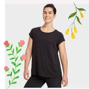Women's Cap Sleeve Laser Cut All in Motion T-Shirt